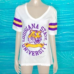LSU High Low Hemline Shirt size Small